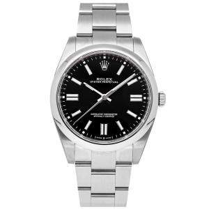 Rolex Black Stainless Steel Oyster Perpetual 124300 Men's Wristwatch 41 MM