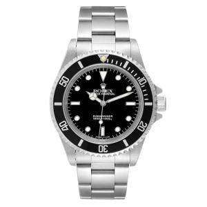 Rolex Black Stainless Steel Submariner 14060 Men's Wristwatch 40 MM