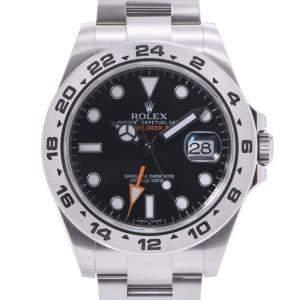 Rolex Black Stainless Steel Explorer II 216570 Men's Wristwatch 41 MM