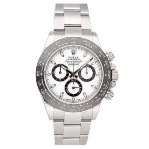 Rolex White Stainless Steel Cosmograph Daytona 116500LN Men's Wristwatch 40 MM