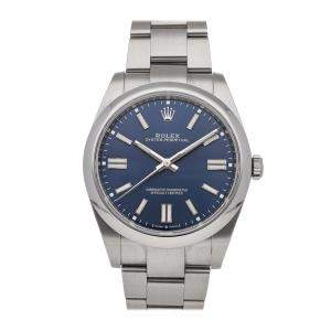 Rolex Blue Stainless Steel Oyster Perpetual 124300 Men's Wristwatch 41 MM