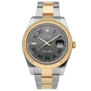 Rolex Grey 18K Yellow Gold And Stainless Steel Datejust II 116333 Men's Wristwatch 41 MM