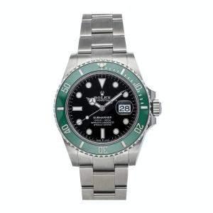 Rolex Black Stainless Steel Submariner Date Kermit 126610LV Men's Wristwatch 41 MM