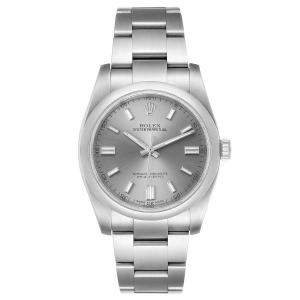 Rolex Grey Stainless Steel Oyster Perpetual 116000 Men's Wristwatch 36 MM