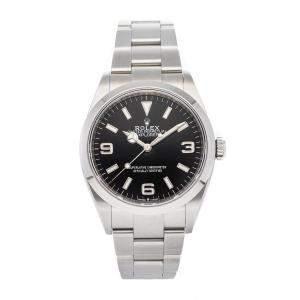 Rolex Black Stainless Steel Explorer 124270 Men's Wristwatch 36 MM