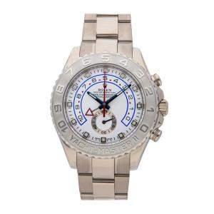 Rolex White 18K White Gold Yacht-Master II 116689 Men's Wristwatch 44 MM