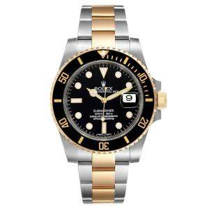 Rolex Black 18K Yellow Gold And Stainless Steel Submariner 116613 Men's Wristwatch 40 MM