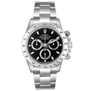Rolex Black Stainless Steel Daytona Chronograph 116520 Men's Wristwatch 40 MM