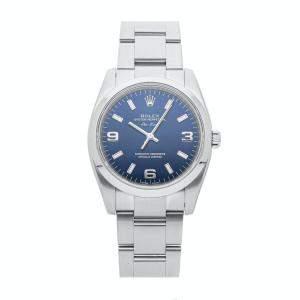 ساعة يد رجالية رولكس أويستر بربتشوال 114200 ستانلس ستيل زرقاء 34مم