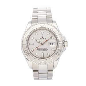 Rolex Silver Stainless Steel Yacht-Master 16622 Men's Wristwatch 40 MM