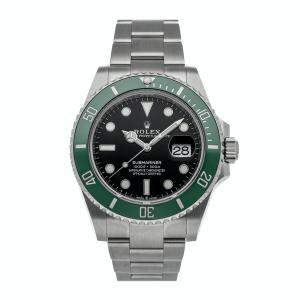 """Rolex Black Stainless Steel Submariner Date """"Kermit"""" 126610LV Men's Wristwatch 41 MM"""