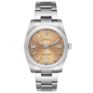 Rolex White Grape Stainless Steel Oyster Perpetual 116000 Men's Wristwatch 36 MM