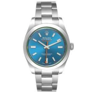 Rolex Blue Stainless Steel Milgauss 116400 Men's Wristwatch 40 MM