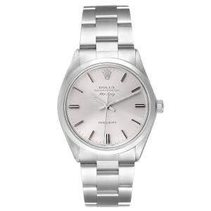 Rolex Silver Stainless Steel Air King Vintage 5500 Men's Wristwatch 34 MM