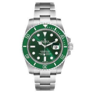 Rolex Green Stainless Steel Submariner 116610 Men's Wristwatch 40 MM