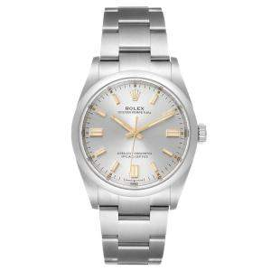 Rolex Silver Stainless Steel Oyster Perpetual 126000 Men's Wristwatch 36 MM