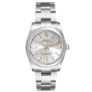 Rolex Silver Stainless Steel Oyster Perpetual 124200 Men's Wristwatch 34MM
