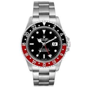 Rolex Black Stainless Stell GMT Master II 16710 Coke Men's Wristwatch 40MM