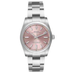 Rolex Pink Stainless Steel Oyster Perpetual 124200 Men's Wristwatch 34 MM