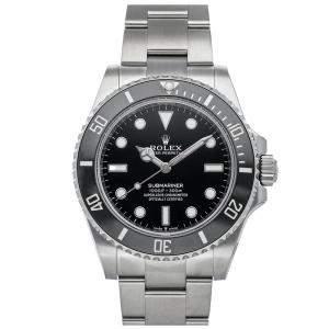 Rolex Black Stainless Steel Submariner 124060 Men's Wristwatch 41 MM