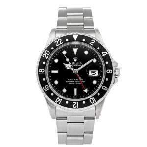 Rolex Black Stainless Steel GMT-Master 16700 Men's Wristwatch 40 MM