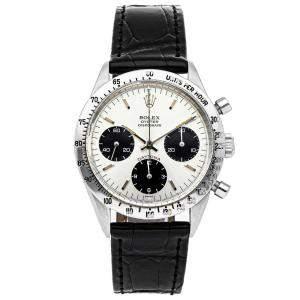 Rolex Silver Stainless Steel Cosmograph Daytona 6239 Men's Wristwatch 37 MM