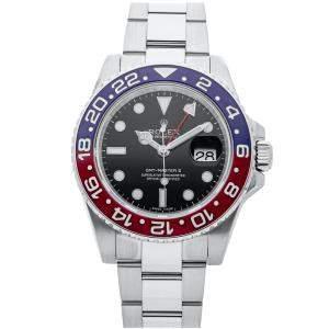 """Rolex Black 18K White Gold GMT-Master II """"Pepsi"""" 116719BLRO Men's Wristwatch 40 MM"""