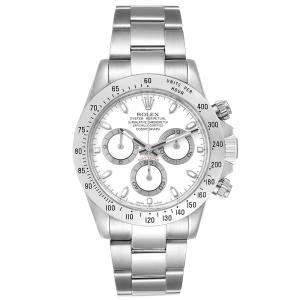 Rolex White Stainless Steel Cosmograph Daytona 116520 Men's Wristwatch 40 MM