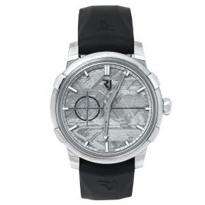 Romain Jerome 1696 Heavy Metal Meteorite Stainless Steel Rubber Moon DNA 1969 RJ.M.AU.00.03 Men's Wristwatch 43 mm