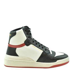 Saint Laurent Paris Multicolor Leather SL24 High-Top Sneakers Size EU 42