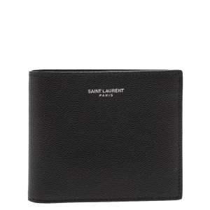 Saint Laurent Black Leather Bifold Wallet
