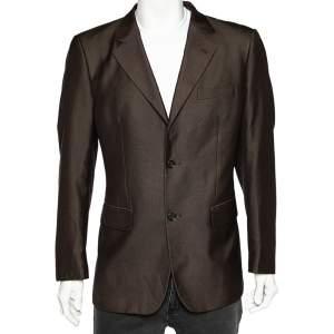 Yves Saint Laurent Vintage Brown Button Front Blazer XL