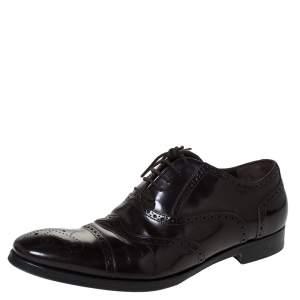 Saint Laurent Paris Brown Leather Brogues Lace Up Oxford Size 41