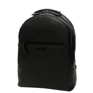 Salvatore Ferragamo Black Leather Firenze Backpack