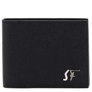 Salvatore Ferragamo Black Leather Signature Bifold Wallet