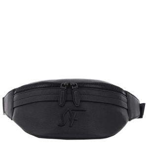 Salvatore Ferragamo Black Leather Monogram Firenze Beltpack
