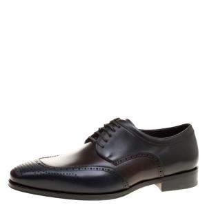 Salvatore Ferragamo Tricolor Leather Brogue Oxfords Size 43.5