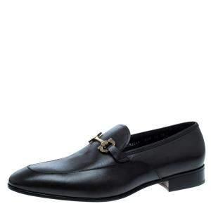 Salvatore Ferragamo Brown Leather Germain Bit Loafers Size 46