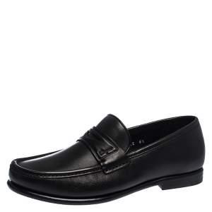 Salvatore Ferragamo Black Leather Penny Loafers Size 40.5