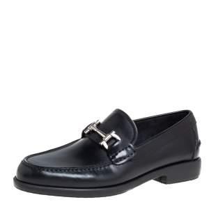 Salvatore Ferragamo Black Leather Faraone Loafers Size 39.5