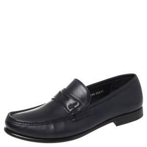 حذاء لوفرز سالفاتوري فيراغامو كونور سير بيني سليب أون جلد أزرق داكن  مقاس 45