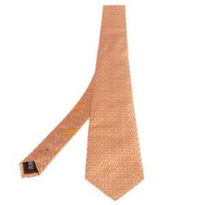 Salvatore Ferragamo Pink Rabbit Print Silk Tie