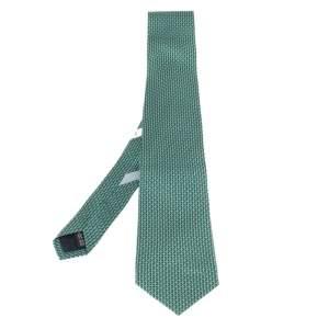 ربطة عنق سالفاتوري فيراغامو طباعة غانسيني أخضر
