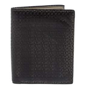 Salvatore Ferragamo Dark Brown Gancini Embossed Leather Bifold Wallet