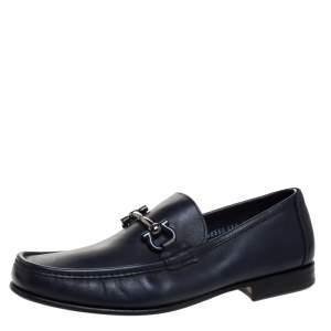 حذاء لوفرز سالفاتوري فيراغامو غانسيني بيت جلد أزرق مقاس 41