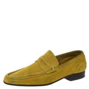 حذاء لوفرز سالفاتوري فيراغامو بسير بيني سويدي أصفر مقاس 42