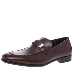 Salvatore Ferragamo Brown Leather Loafers Size 41.5