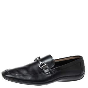 Salvatore Ferragamo Black Leather Gancini Bit Loafers Size 42.5
