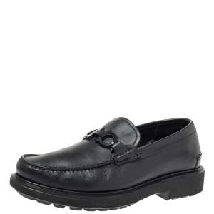 حذاء لوفرز سالفاتوري فيراغامو غانسيو مزدوج جلد أسود مقاس 40