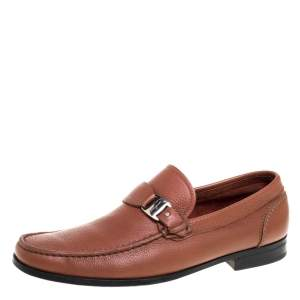Salvatore Ferragamo Brown Leather Tangeri Loafers Size 44